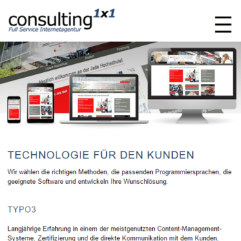 AMP Version der Consulting1x1 Webseite