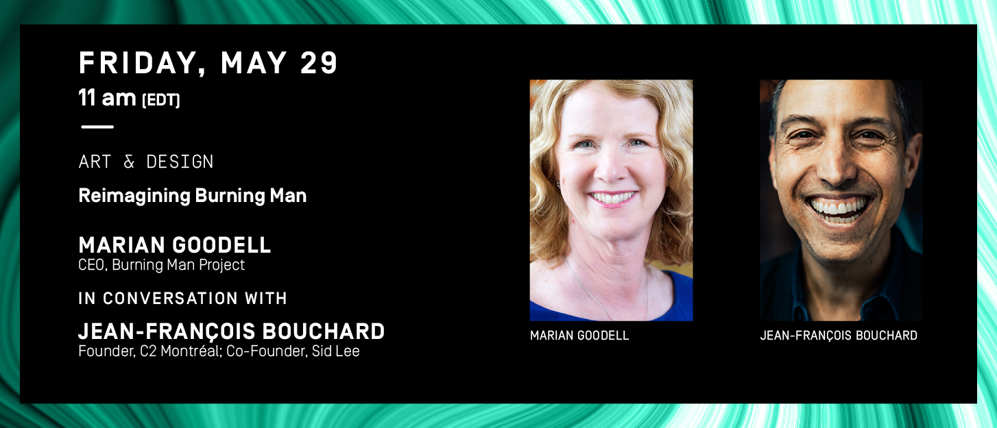 Friday May 29 programming: Marian Goodell and Jean-François Bouchard