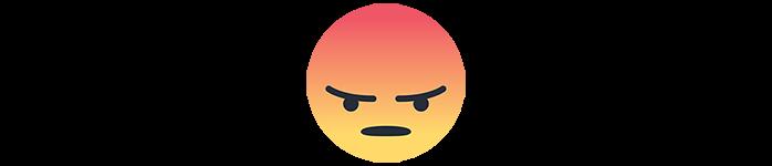facebook emoji angry