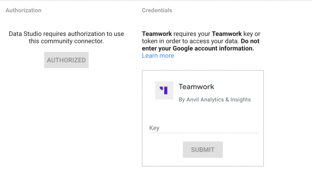 add teamwork api key