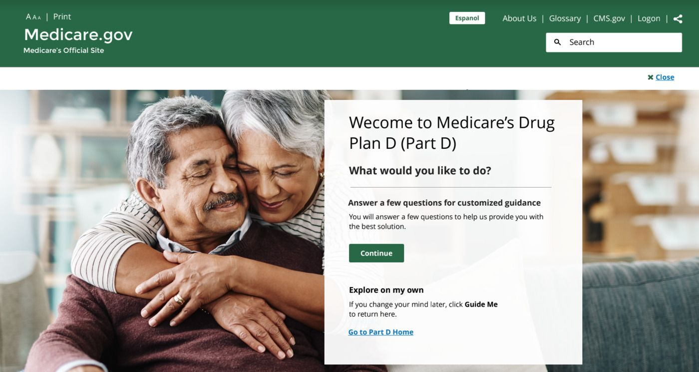 Design mock-up of the Medicare website, produced by our team for the design challenge.