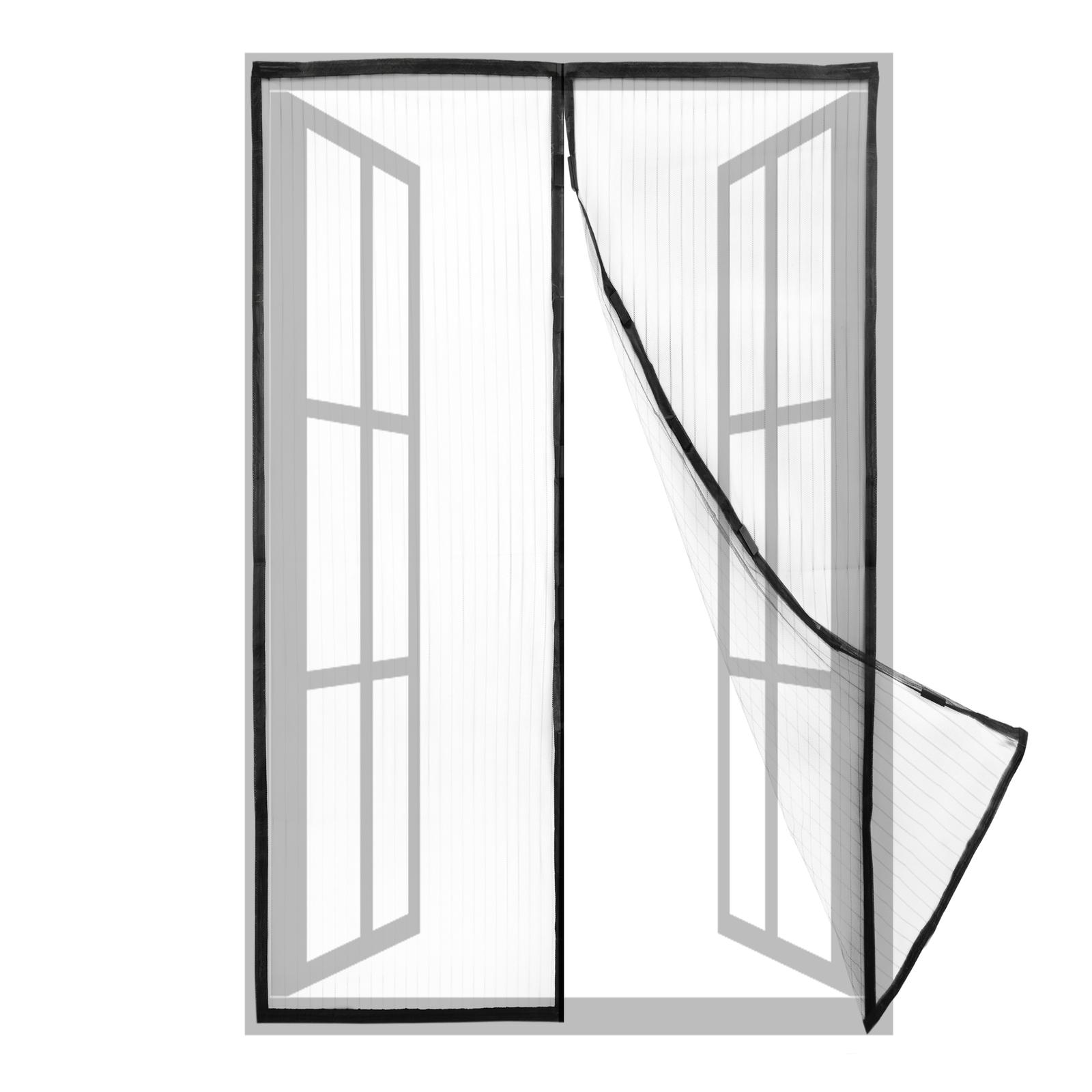 31x39Pouces -B Moustiquaire porte Magn/étique,Moustiquaire fen/être magn/étique Bande Adhesive Sans Per/çage Fermeture Automatique pour Couloirs Portes Patio-80x100Cm