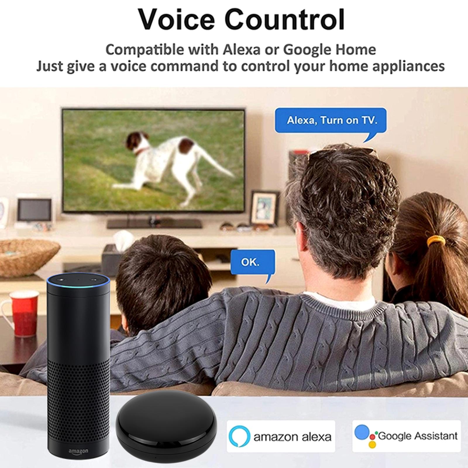 Control Remoto Conveniente Todo En Uno Leeofty Control Remoto Universal Inteligente Wi-Fi//IR Dom/óTica Inteligente Compatible con Alexa//Echo//Google Home