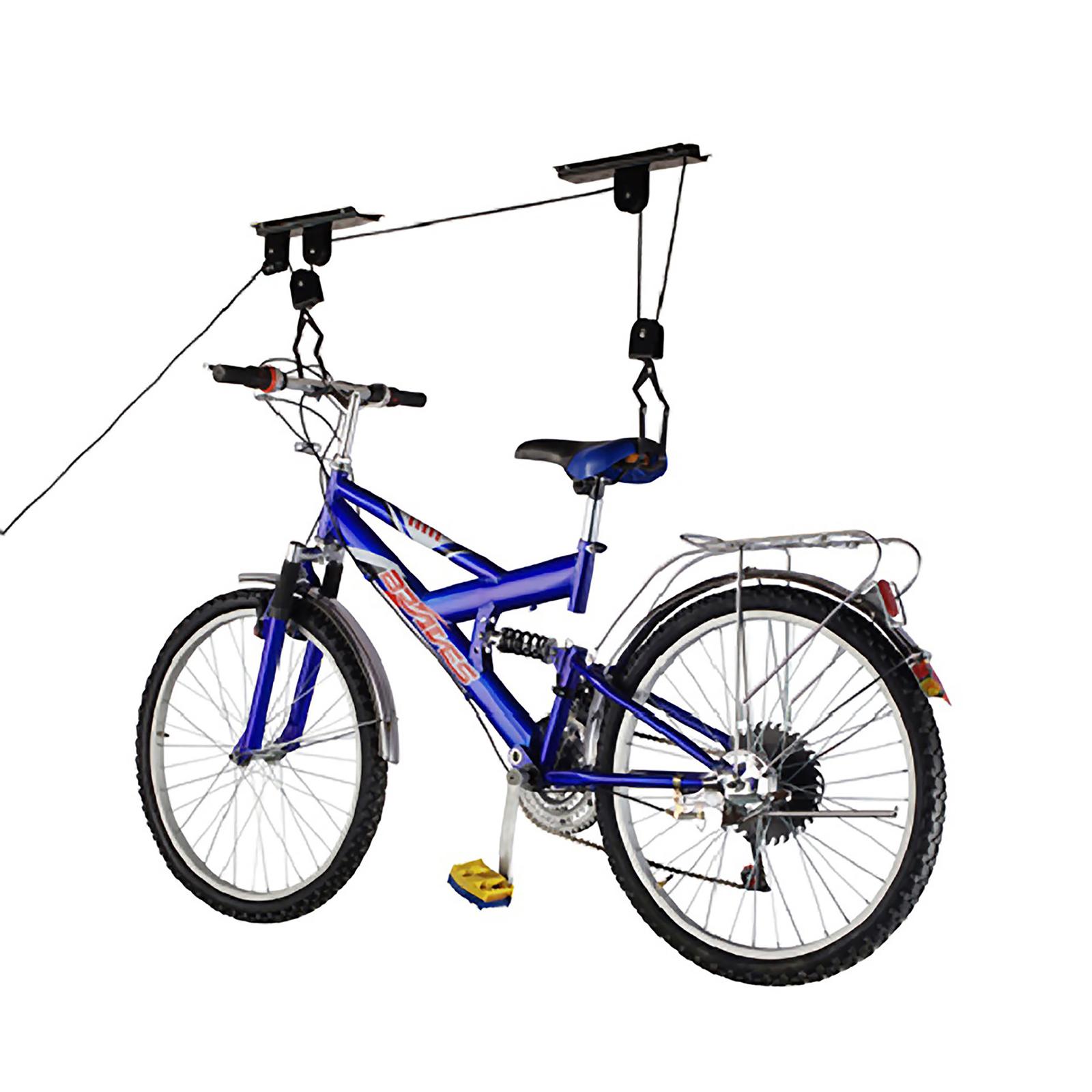 Support Velo Au Plafond support pour accrocher les vélos au plafond par des cordes et de poulies