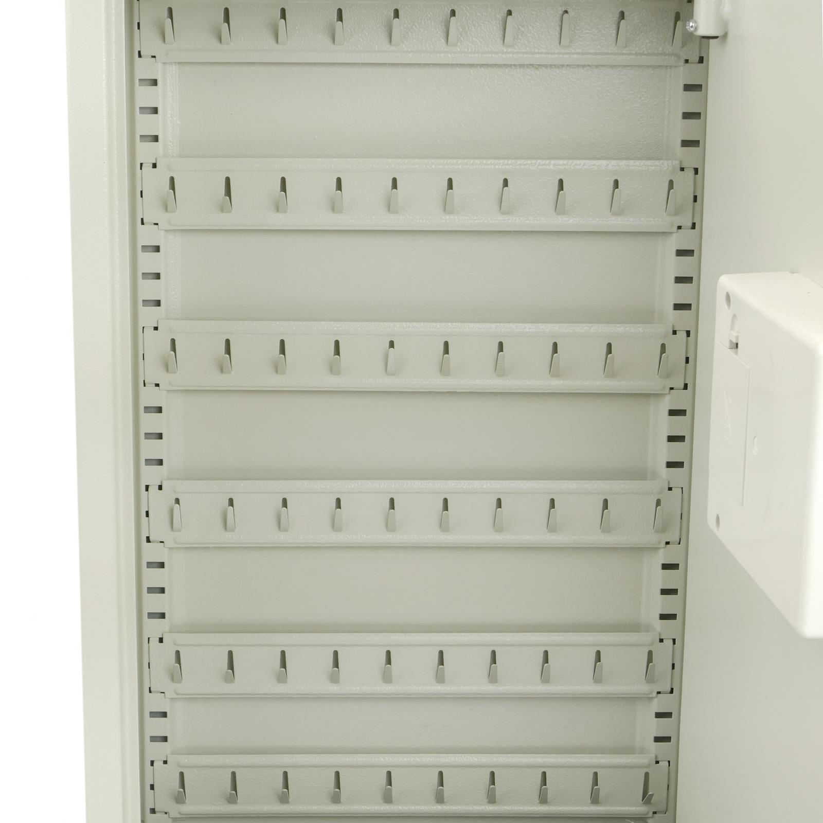 Caja Fuerte con c/ódigo electr/ónico 35x13x55cm Negro PrimeMatik Armario de Llaves con 60 Ganchos