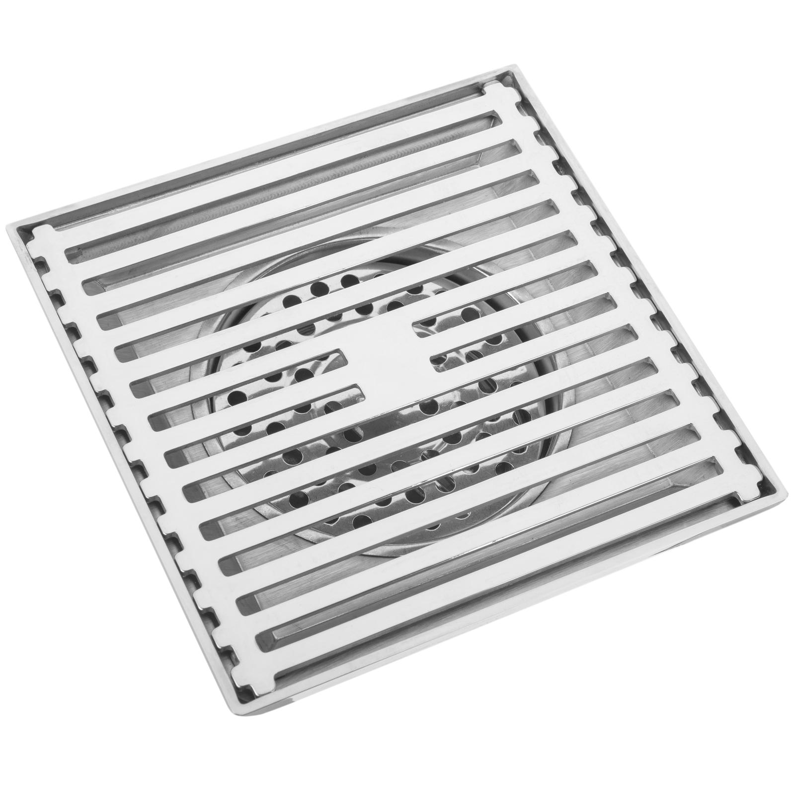 Sumidero 12x12x5cm con Rejilla extra/íble de Acero Inoxidable Brillante PrimeMatik