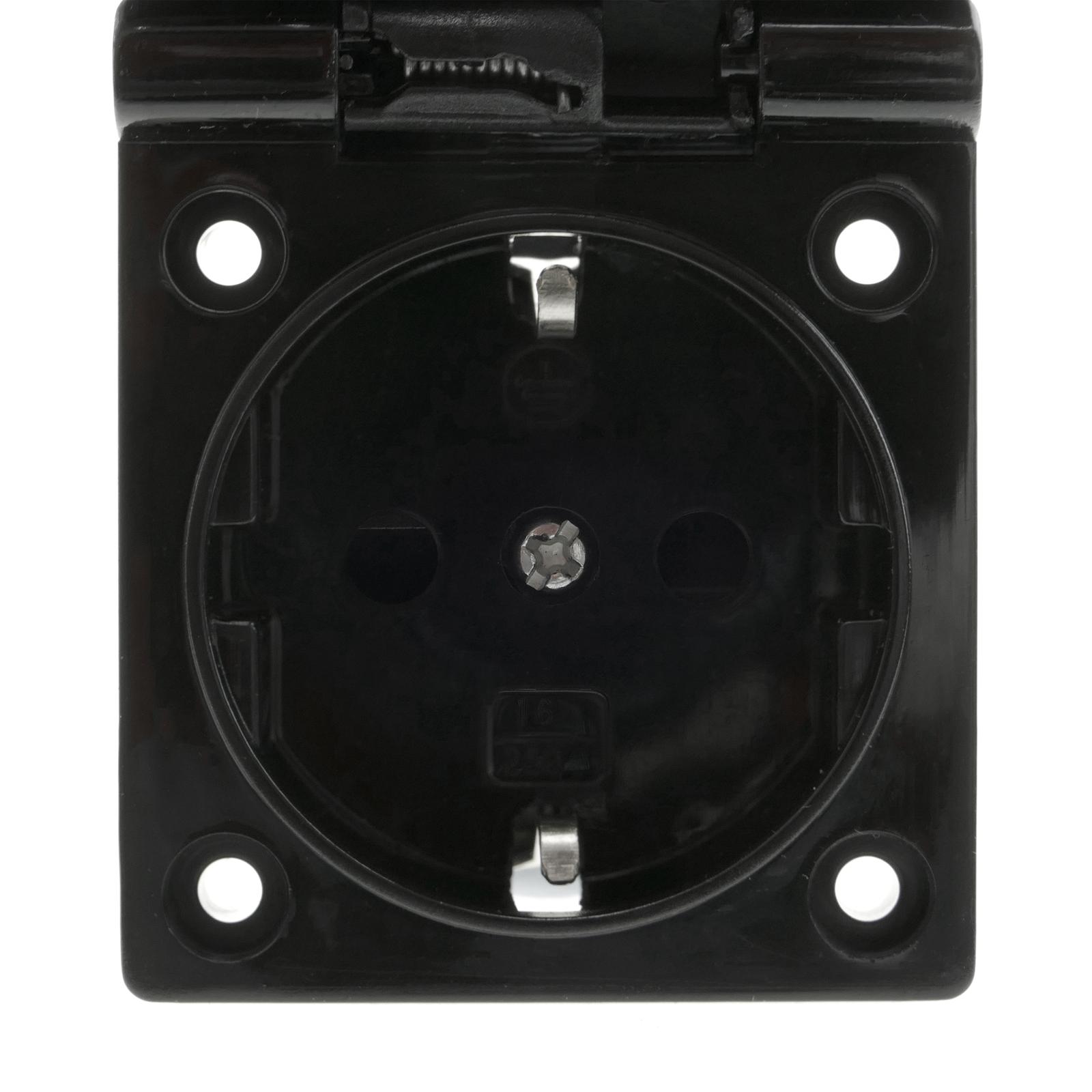 BERKER Schuko-Double-prise de courant m34370 Gris Foncé//Jaune