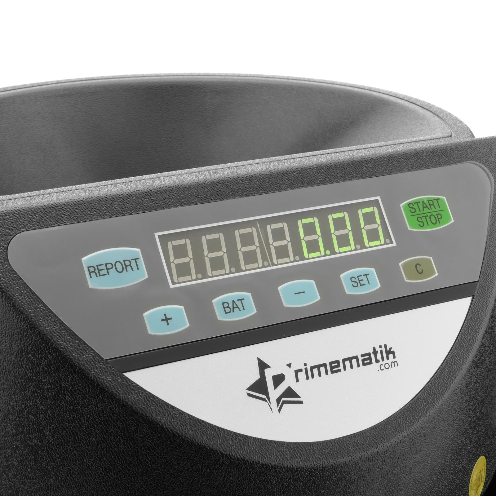Contador de Monedas con clasificador autom/ático para Euro y Visor Multi-Moneda PrimeMatik