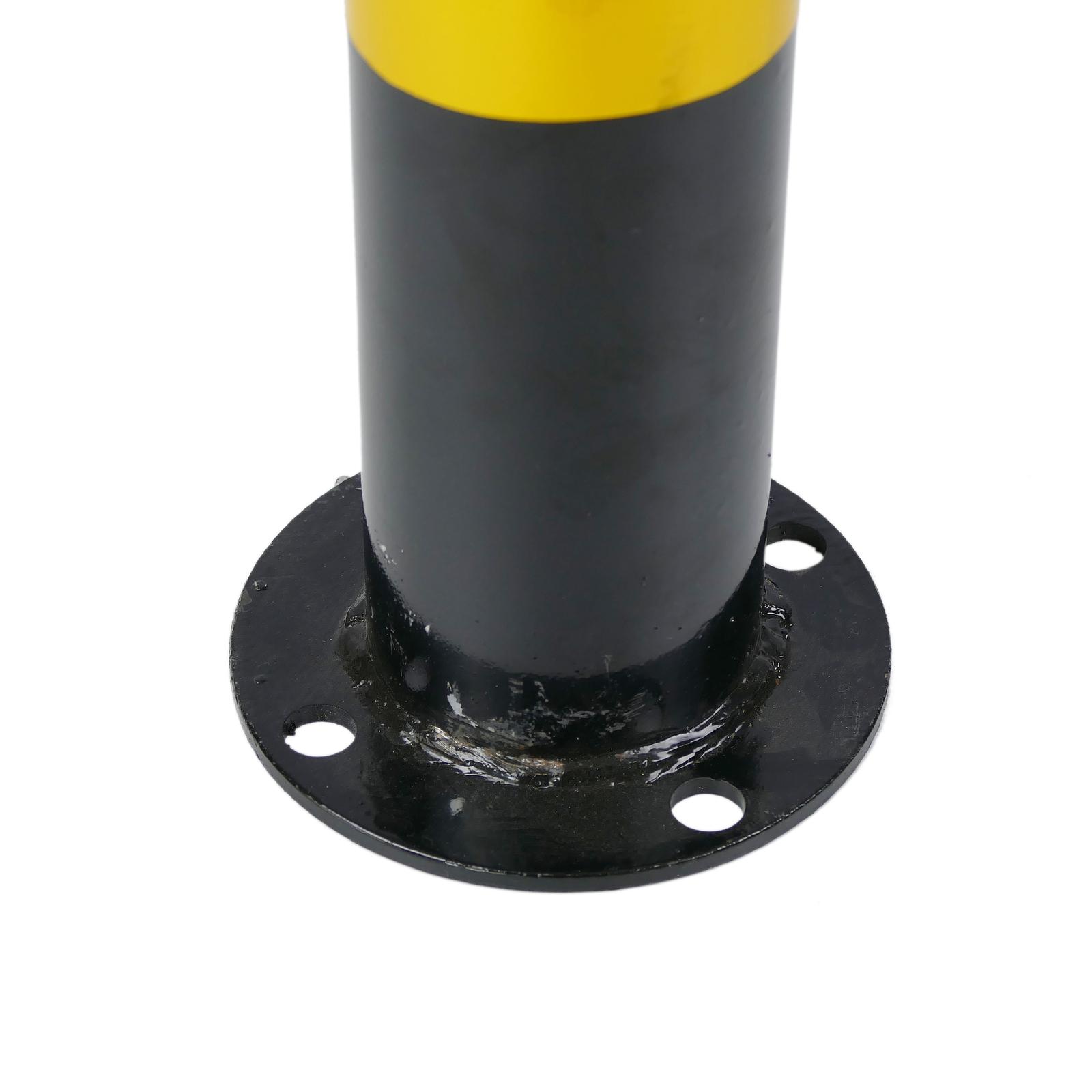Cablematic Genagelt Stahl-Poller mit abnehmbaren Sockel 110x1000mm