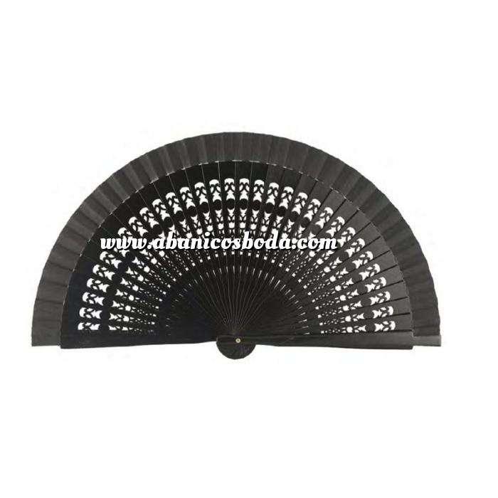 Imagen Abanico Calado 16 cm Abanicos Calados 16 cm Negro (Últimas Unidades)