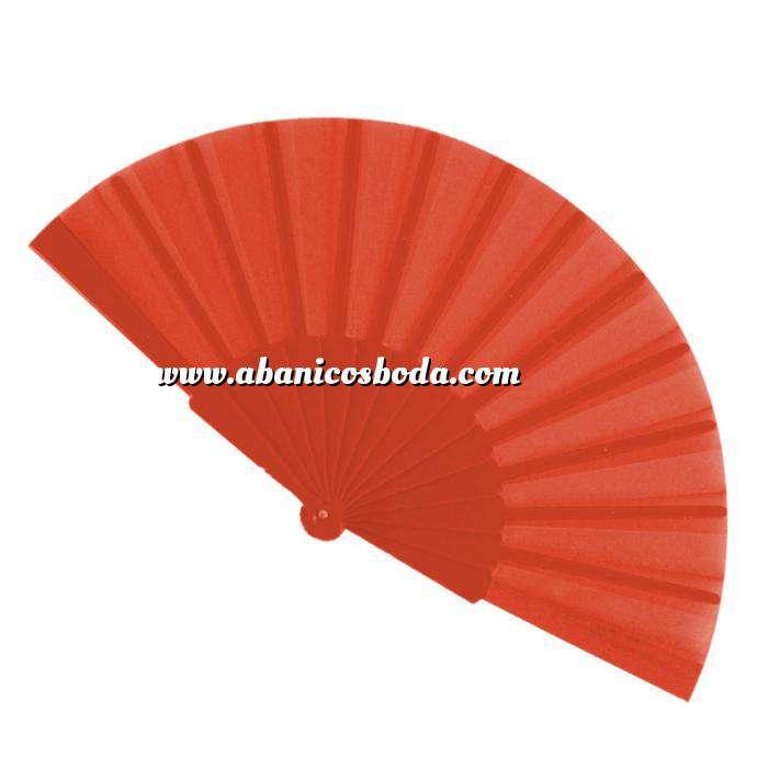 Imagen Abanico Económicos Abanico de tela Naranja Oscuro (con varillas de plástico) (Últimas Unidades)