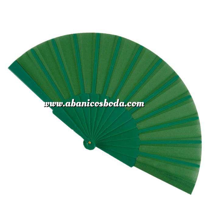 Imagen Abanico Económicos Abanico de tela Verde (con varillas de plástico) (Últimas Unidades)