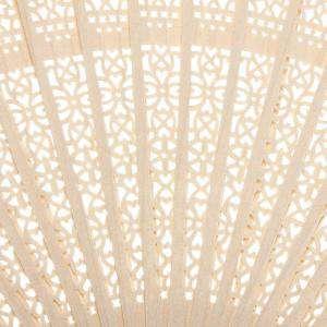 Imagen Abanicos de Sándalo 21 cms Abanico Calado de Sándalo - 22 cm (PREPARADOS en bolsa de Organza)