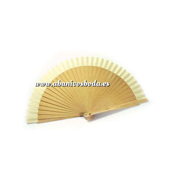 Imagen Abanico Liso 16 cm Abanico Liso 16 cm Natural (Últimas Unidades)
