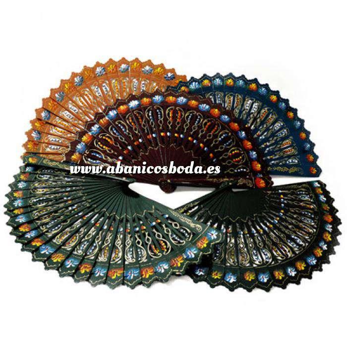 Imagen Abanico Pintado de 23 cm Abanicos Alhambra Pintado 2 Caras