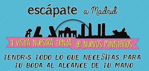 Abanicos Boda - Escápate a Madrid