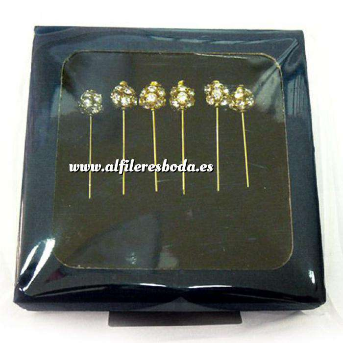 Imagen Liquidación Alfileres alfiler novia dorado en caja de seis unidades (Últimas Unidades)