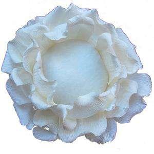 Complementos Alfileres - Bouquet Alfileres ROSA BLANCA DE PAPEL
