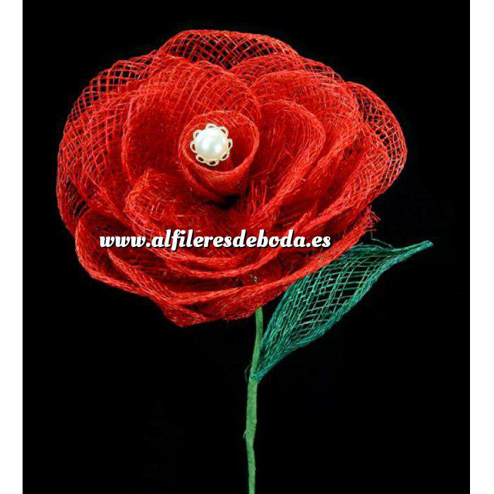 Galería de alfileres de novia originales. Fotos de preparados Alfiler especial 06 sobre rosa individual color rojo