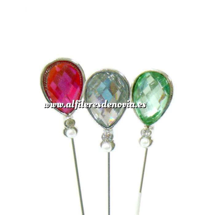Imagen Alfileres OUTLET Alfiler especial 91 (Lágrima Cristal Colores) - SOLO COLOR ROSA (Últimas Unidades)