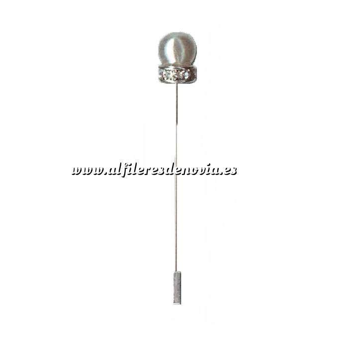 Imagen Alfileres especiales Alfiler Especial 16 (perla anillo cristal blanco) (Últimas Unidades)