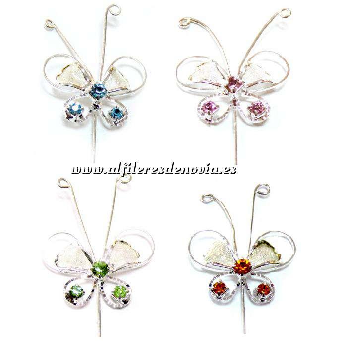 Imagen Alfileres especiales Alfiler Especial 76 (Mariposa Cristal Colores Surtidos) (Últimas Unidades)