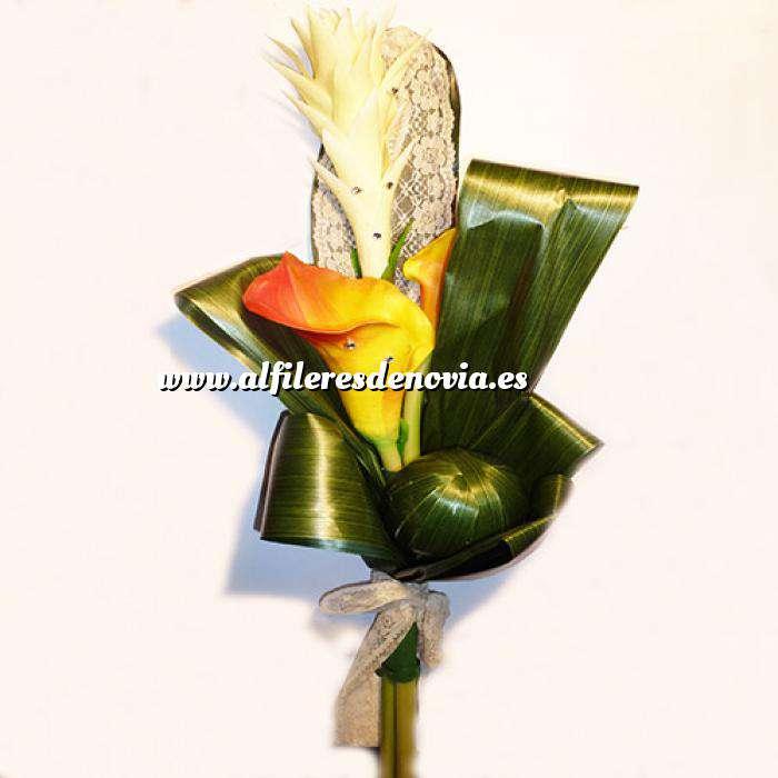 Imagen Complementos Alfileres Bouquet Vara Calas Naranjas con encaje para alfileres (Últimas Unidades)