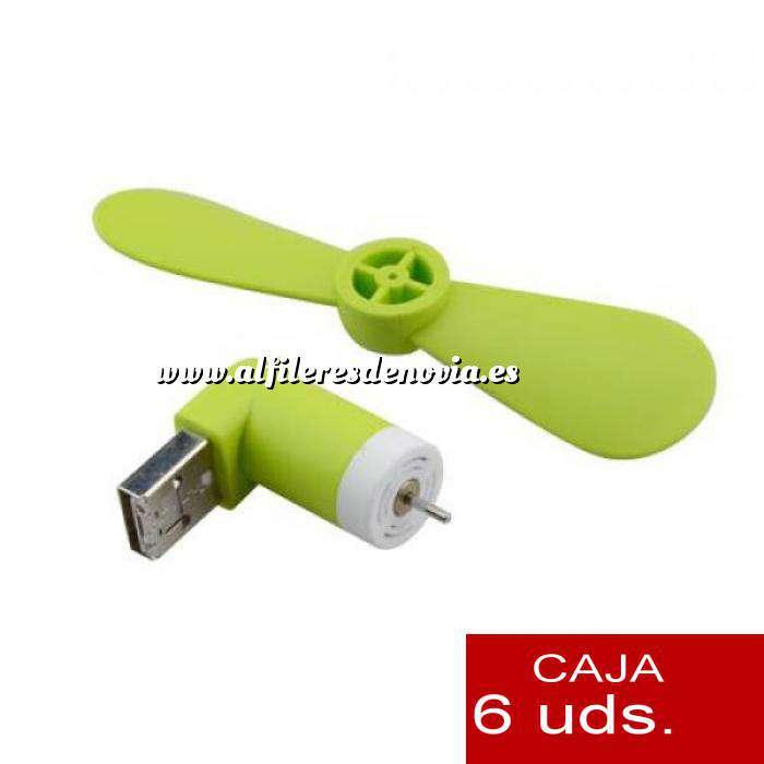 Imagen Mini ventilador USB para móviles PACK 6 uds
