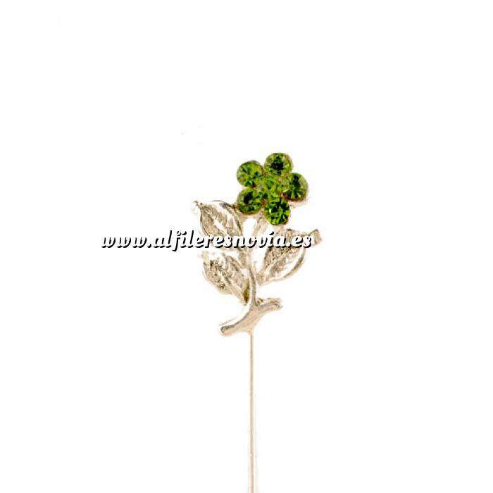 Imagen Alfileres especiales Alfiler Especial 36 (flor tres hojas VERDE) (Últimas Unidades)