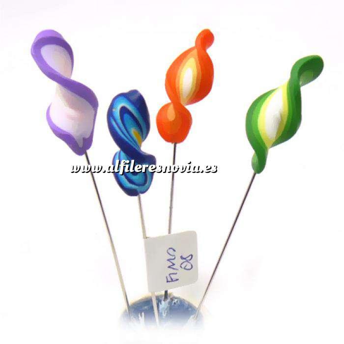 Imagen Alfileres fimo Alfiler clásico Fimo 08 (espirales colores)