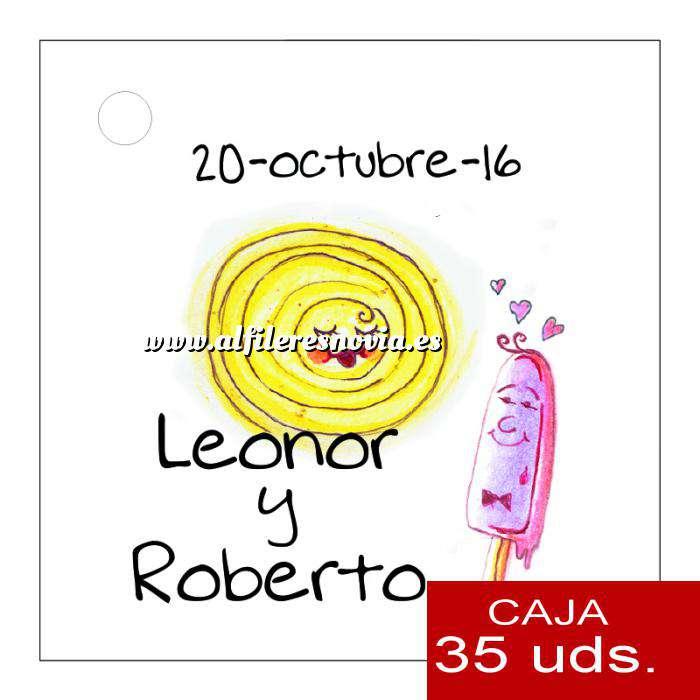 Imagen Etiquetas impresas Etiqueta Modelo A16 (Paquete de 35 etiquetas 4x4)