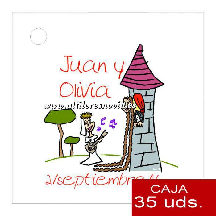 Imagen Etiquetas impresas Etiqueta Modelo D13 (Paquete de 35 etiquetas 4x4)