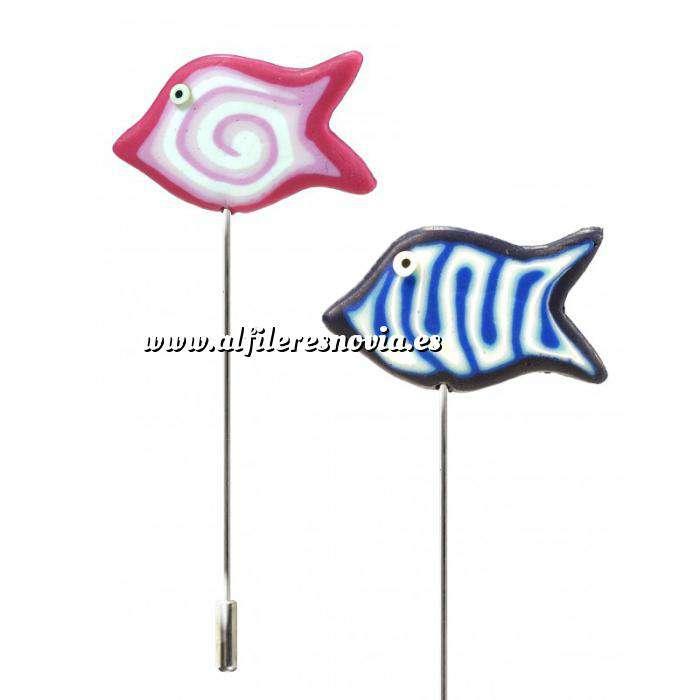 Imagen Liquidación Alfileres Alfiler clásico Fimo 16 (peces colores)