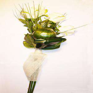Complementos Alfileres - Bouquet Ramo Rosas Blancas para alfileres (Últimas Unidades)