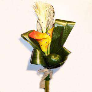 Complementos Alfileres - Bouquet Vara Calas Naranjas con encaje para alfileres (Últimas Unidades)