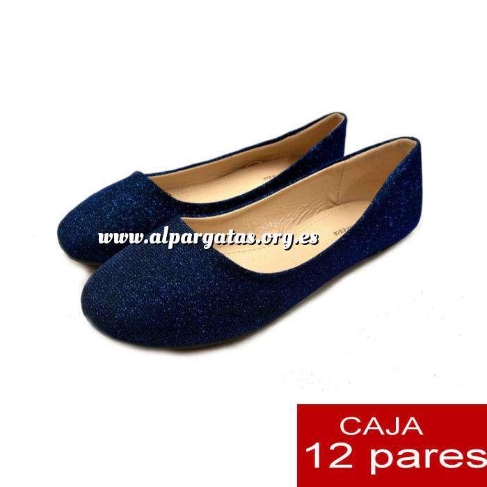 Imagen Alta Calidad Manoletinas AZUL BRILLI- Caja 16 pares (Últimas Unidades)