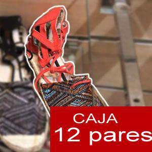 Alta Calidad - Sandalias Étnicas NARANJA - Caja de 12 pares (Ref.: Naranja 15C0759) (Últimas Unidades)
