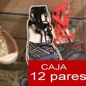 Alta Calidad - Sandalias Étnicas NEGRO - Caja de 12 pares (Ref.: Negro 15C0759) (Últimas Unidades)