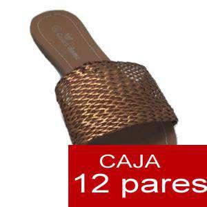Alta Calidad - Sandalias planas Doradas Trenzadas - Caja de 12 pares (Últimas Unidades)