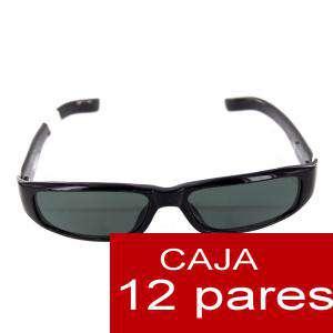 Gafas de sol - Gafas de Sol alargadas negras para bodas ALTA CALIDAD- Mod. 12. PACK 12 uds (Últimas Unidades)