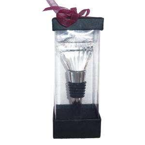 Set de vino - Tapón de vino cristal tallado diamante (Últimas Unidades)