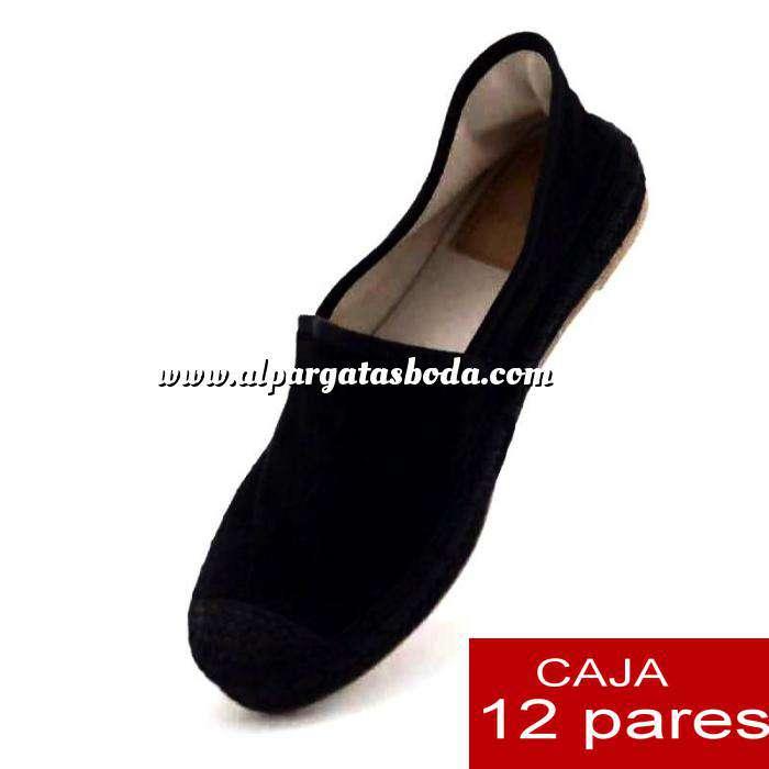 Imagen Alta Calidad Mocasín NEGRO detalle - Caja de 12 pares (Últimas Unidades)