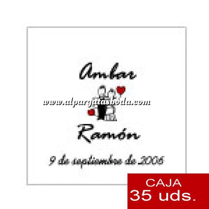 Imagen Etiquetas Etiqueta 4 x 4 cm (Paquete 35 unidades)