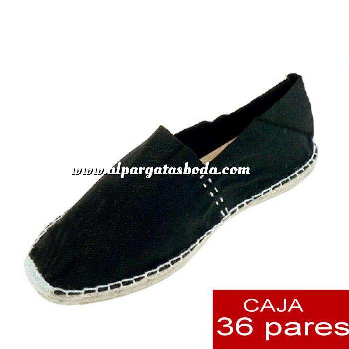 Imagen Hombre Cerradas Alpargatas cerradas HOMBRE color Negro - Caja 36 pares (TIENDA)