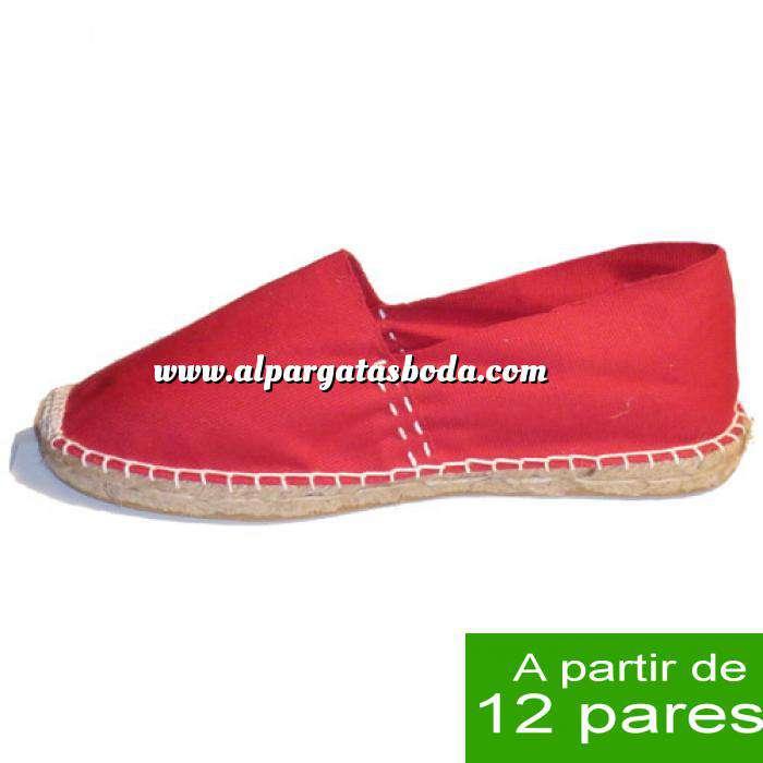 Imagen Mujer Cerradas Alpargatas Cerradas MUJER color Rojo - A partir de 12 pares