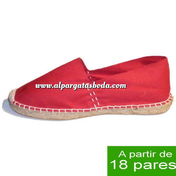 Imagen Mujer Cerradas Alpargatas Cerradas MUJER color Rojo - A partir de 18 pares