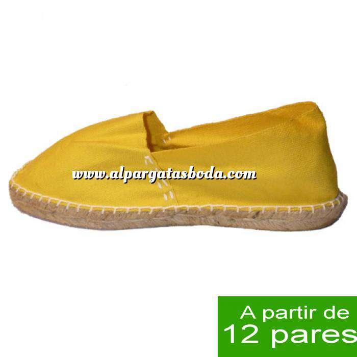 Imagen Mujer Cerradas Alpargatas cerradas MUJER color Amarillo - A partir de 12 pares (Últimas Unidades)