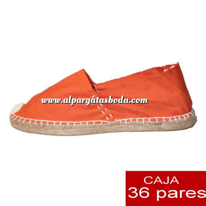 Imagen Mujer Cerradas Alpargatas cerradas MUJER color Naranja - caja 36 pares