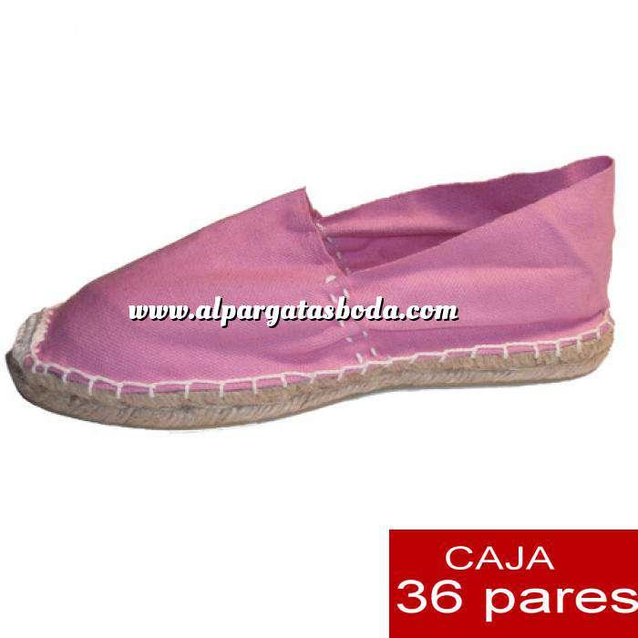 Imagen Mujer Cerradas Alpargatas cerradas MUJER color Rosa - caja 36 pares (Últimas Unidades)