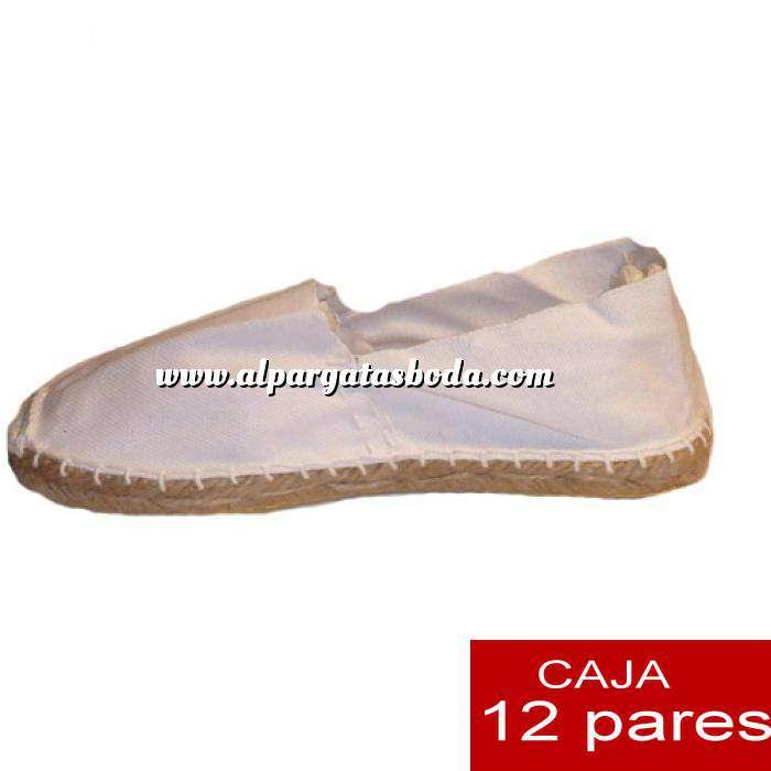 Imagen Mujer Cerradas Alpargatas cerradas MUJER color blanco - caja 12 pares